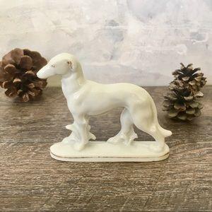 Porcelain Greyhound Dog Figurine Vintage Japan